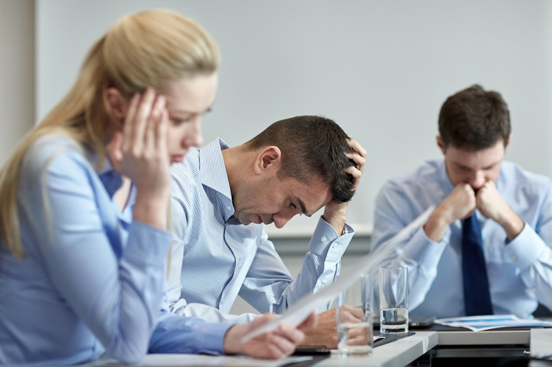 Being Real-business people having problem in office