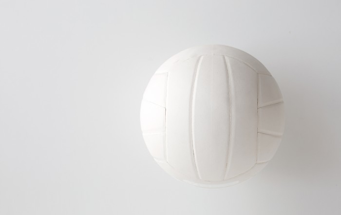 Practice and Play-close up of volleyball ball on white
