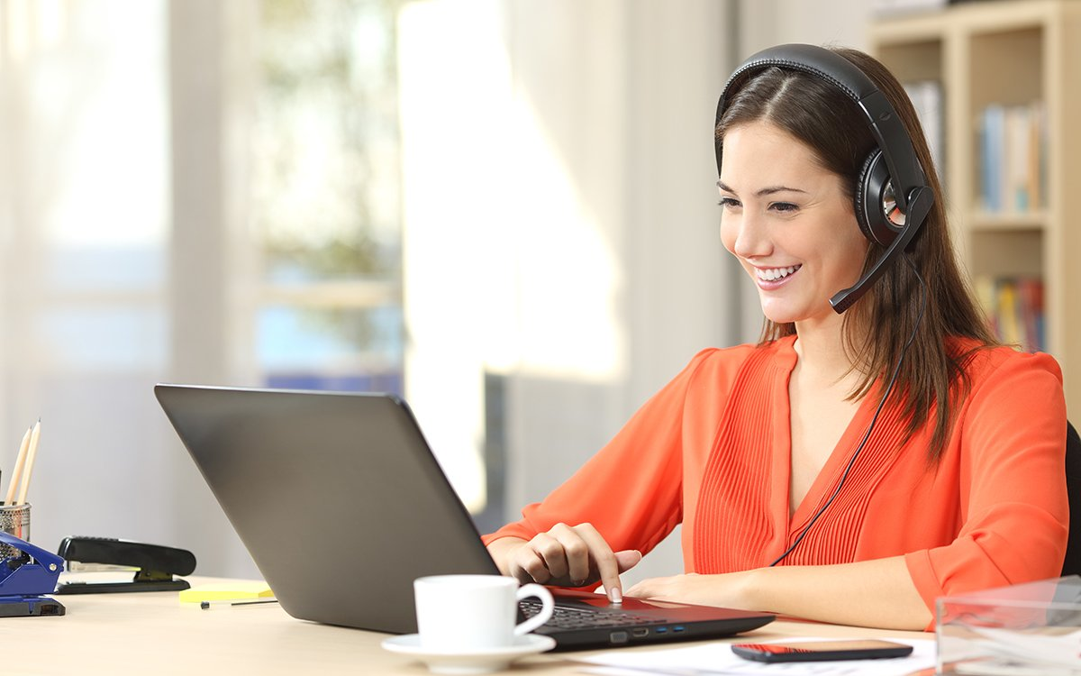 Elevate Your Professional Presence 2.0 video conference-woman with headphones
